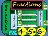 St Patrick's Day Fractions Challenges - Math - Grade 4, Grade 5 and Grade 6