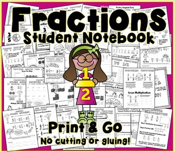 Fractions- Student Interactive Notebook