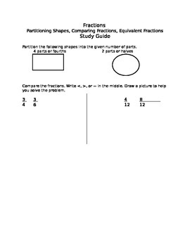 Fractions Study Guide