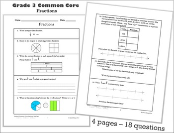 Fractions Math Assessment Tool