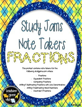 Fractions Study Jams Note Takers
