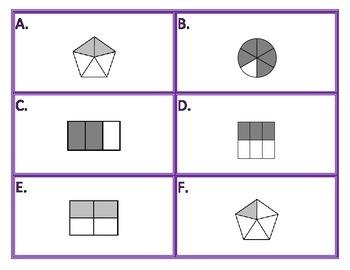 Fractions 36 Task Cards 2 math center activities