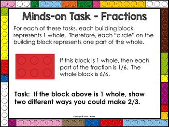 Fraction Task Cards with Building Blocks