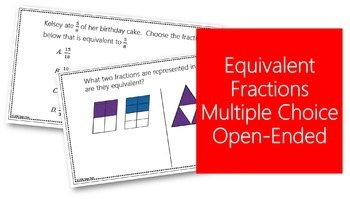 Fractions Task Cards 4th Grade #3