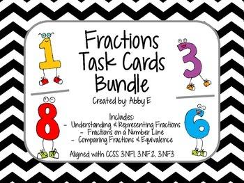 Fractions Task Cards Bundle