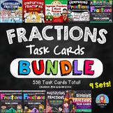 Fractions Task Cards BUNDLE {9 Sets}