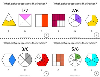 Fractions Activity Task Cards