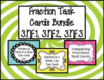 Fractions Task Cards Bundle 3.NF