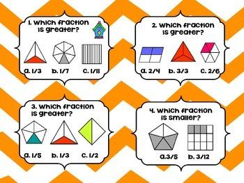 Fractions Task Cards Bundle (4 math centers)