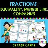 Fractions: Equivalent, Number Line, Comparing Task Cards
