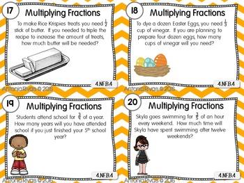 Fractions Task Cards {EDITABLE set}