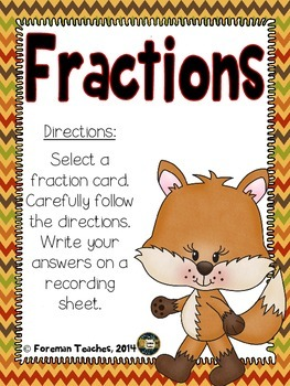 Fractions Task Cards - Free