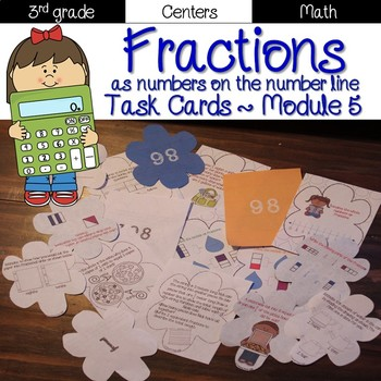Fractions Task Cards {Grade 3 Module 5}