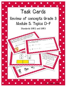 Fractions Task Cards Grade 3 NYS Module 5 Part 2