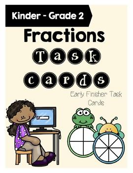 Fractions Task Cards Grades 1-2