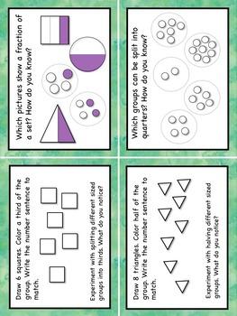 Problem Solving Word Problems Fraction Task Cards Grade 2 US