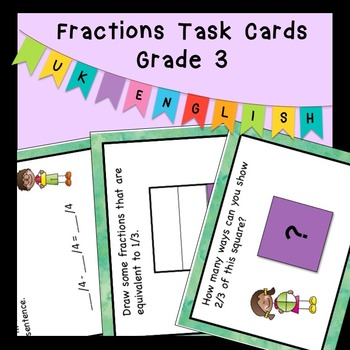 Fractions Task Cards Higher Order Thinking HOTS Grade 3 AUS UK