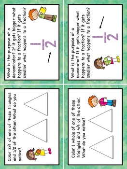 Fractions Task Cards Higher Order Thinking HOTS Grade 3 US
