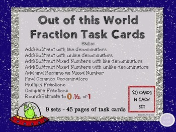 Fraction Task Cards: Add/Subtract Mixed Review