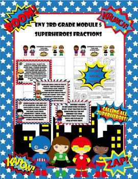 Fractions Task Cards Superhero Theme