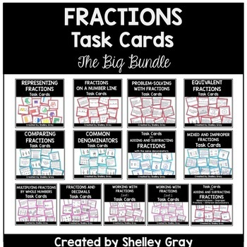 Fractions Task Cards: The Big Bundle