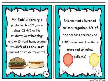 Fractions: Task Cards (Versatile)