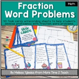 Fractions Task Cards: Word Problems