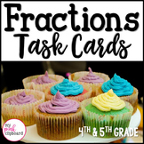 Fractions Word Problems Task Cards - Real World Contexts -