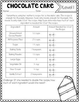 Fractions Tasks and Challenges {Differentiated Fraction Activities}