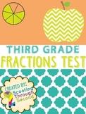 Fractions Assessment (3rd grade) Test or Quiz