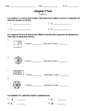 Fractions Test -4th Grade