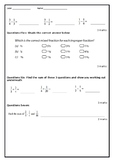 Fractions Test Add and Subtract Related Denominators, Mixed Numeral Questions
