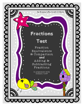 Fractions Test- Equivalent, Comparison, Adding & Subtracting