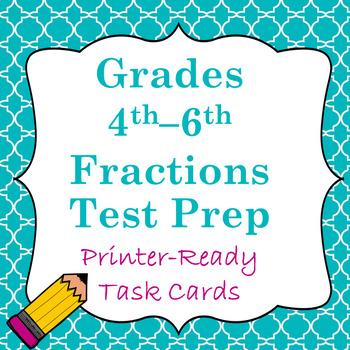 Fractions Test Prep Task Cards