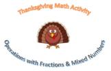 Fractions Thanksgiving Craftivity Bundle