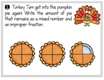 Fractions - Thanksgiving Theme