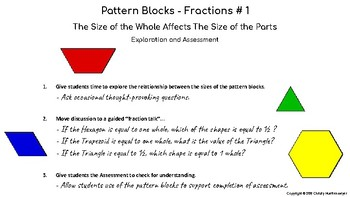 Fractions - The Size of the Whole Affects The Size of the Parts (Pattern Blocks)