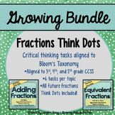 Fractions Think Dots Bundle! Differentiated Critical Think