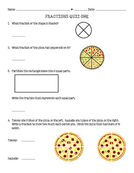 Fractions Three Quiz Bundle