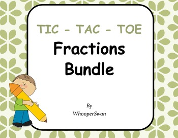 Fractions Tic-Tac-Toe Bundle