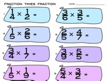 Fractions Times Fractions - 5.NF.4