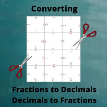 Fractions To Decimals: Decimals To Fractions