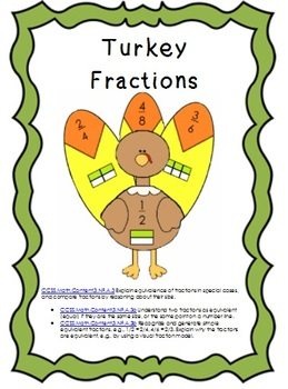 Thanksgiving Math- Equivalent Fractions Matching Game
