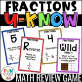 Fractions Game for Math Centers or Stations: U-Know