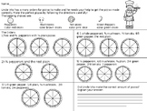 Fractions: Uncle Vito's Fraction Pizzas Worksheet