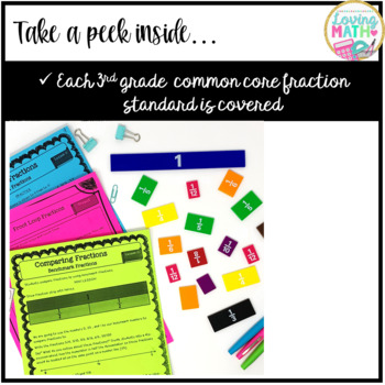 3rd Grade Fractions Unit Common Core : Equivalent Fractions, Ordering, Comparing