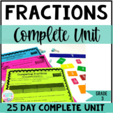 3rd Grade Fractions Unit : Equivalent Fractions, Ordering, Comparing Fractions