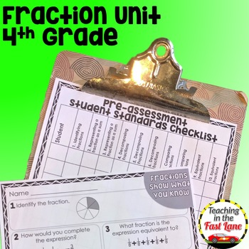 Fractions Unit 4th Grade