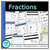 Fractions (Unit 9) - Middle School: Grade 7