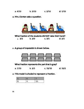 Fractions Unit Assessment